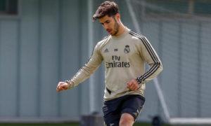 ماركو أسينسيو يتدرب على العشب بعد شهور من الإصابة 2020 (حساب اللاعب في توتير)