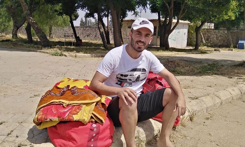 محمد حاج بيوك بعد طرده من المنزل 16 من أيار 2020 (صفحة اللاعب في فيس بوك)