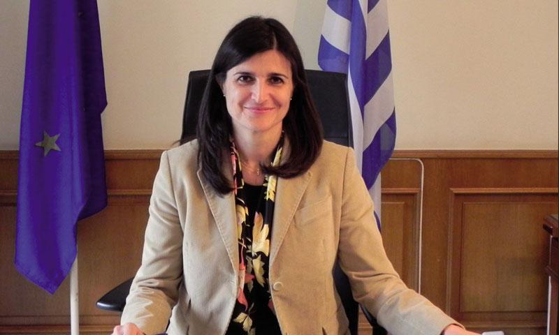 المبعوثة اليونانية الخاصة إلى سوريا والسفيرة السابقة فيها تاسيا أثاناسيو (ildenaro)
