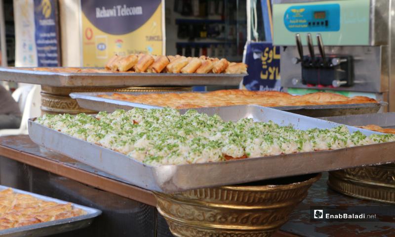 تجهيز حلويات العيد في مدينة مارح بريف حلب - 20 أيار 2020 (عنب بلدي/ عبد السلام مجعان)