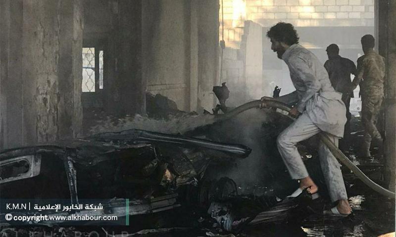 إطفاء حريق ناجم عن انفجار سيارة مفخخة في رأس العين - 5 حزيران 2020 (شبكة الخابور)