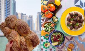 """إحدى الصور التي نشرها حساب """"إسرائيل بالخليج"""" خلال إعلانه عن المطعم الإسرائيلي في الإمارات- 4 من حزيران (تعديل عنب بلدي)"""