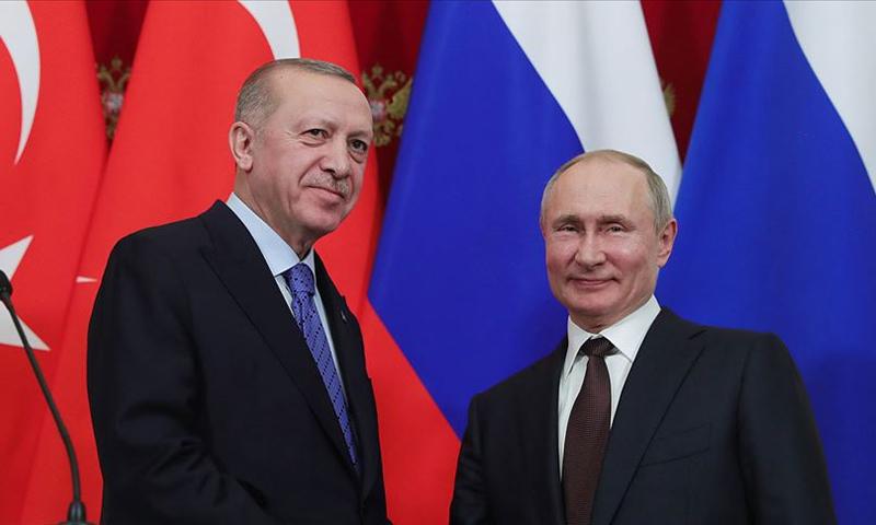 الرئيسان الروسي فلايمير بوتين، والتركي رجب طيب أردوغان- (الأناضول)