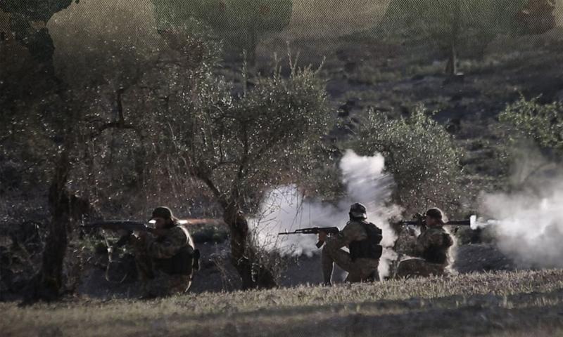 تدريب بالخيرة الحية لعناصر الجبهة الوطنية للتحرير - 19 حزيران 2020 (الإعداد الفكري والعسكري)