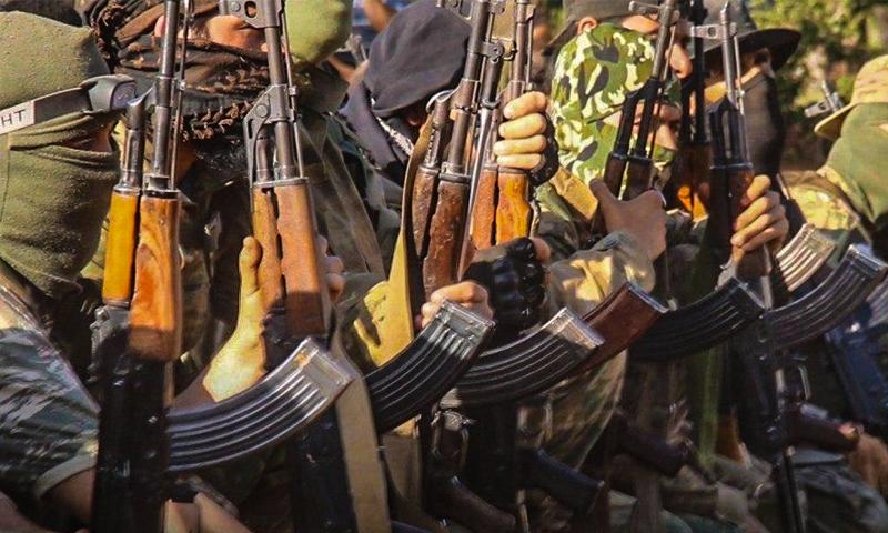 عناصر من تحرير الشام في أحد دورات رفع المستوى - 18 أيار 2020 (إباء)