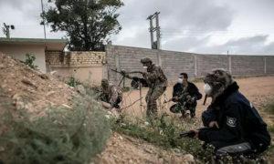 قوات تابعة لحكومة الوفاق على جنوب العاصمة طرابلس - 5 حزيران 2020 (الأناضول)