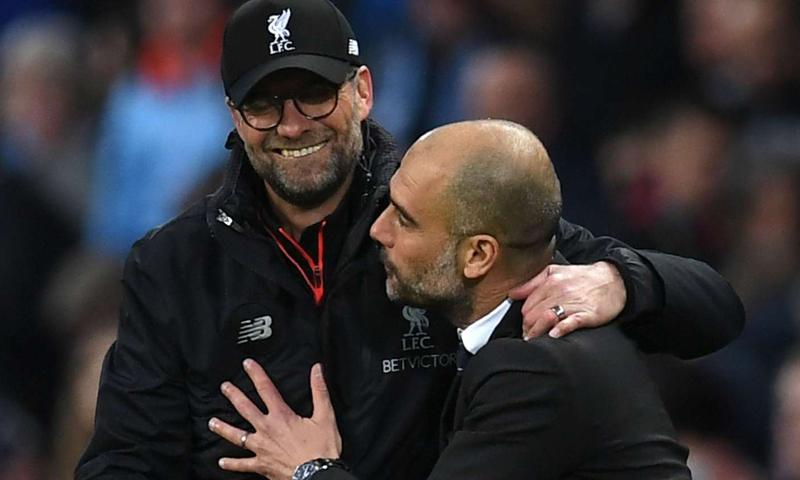 مدرب ليفربول يورجن كلوب ومدرب مانشستر سيتي بيب جوارديولا- (Getty Images)