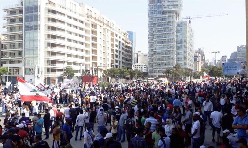 مظاهرات لبنان 6 من حزيران 2020 (تويتر)