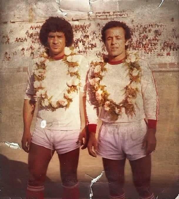 هيثم بره جكلي وأنور عبد القادر في السبعينات (قدامى نادي الشرطة- فيس بوك)