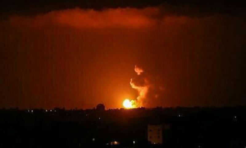 """صورة للانفجار الذي تداوله الناشطون الإيرانيون على """"تويتر"""" في طهران- 10 من تموز (تويتر)"""
