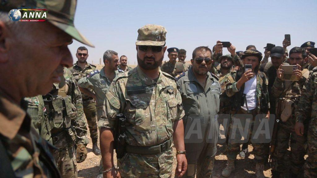 القائد في قوات النظام سهيل الحسن يزو ريف محافظة الرقة 6 من تموز 2020 (ANNA)