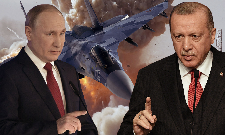 الرئيس التركي رجب طيب أردوغان والرئيس الروسي فلاديمير بوتين صورة تعبيرية (تعديل عنب بلدي)