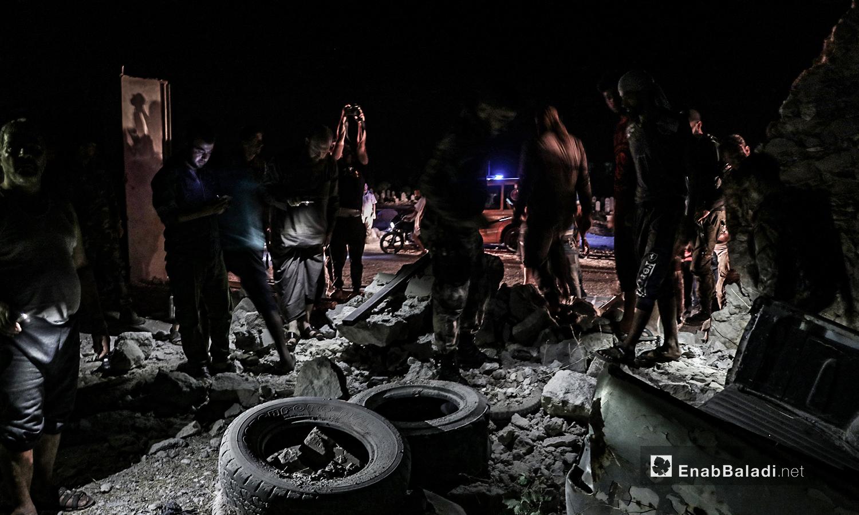 انفجار عبوة ناسفة في إحدى الأراضي الزراعية على أطراف مدينة الباب في ريف حلب الشمالي الشرقي - 27 من تموز 2020 (عنب بلدي / عاصم الملحم )