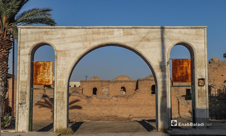 """تسميته بـ""""قصر البنات"""" لا تحمل دلالة تاريخية ويعتقد أنها تسمية شعبية - تموز 2020 (عنب بلدي/ عبد العزيز الصالح)"""