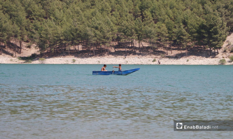 بحيرة ميدانكي في عفرين شمالي سوريا - 21 تموز 2020 (عنب بلدي/عبد السلام مجعان)