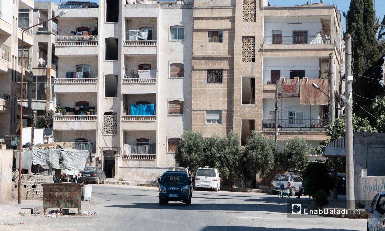بناء في أحد أحياء مدينة إدلب - 14 تموز 2020 (عنب بلدي/أنس الخولي)