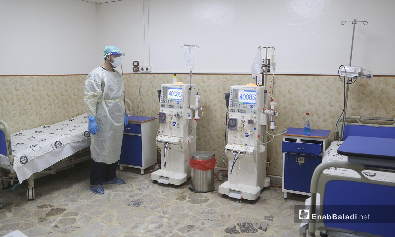 """قسم علاج فيروس """"كورونا المستجد"""" في مشفى الزراعة بمدينة إدلب - 14 حزيران 2020 (عنب بلدي\يوسف غريبي)"""