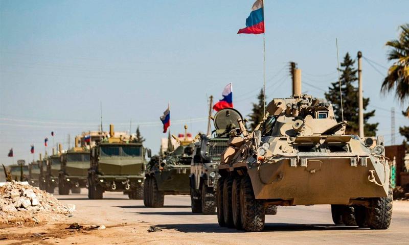 رتل عسكري روسي في مناطق شمال شرقي سوريا- (دير الزور24)