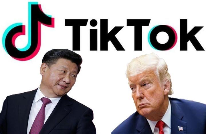 الرئيسين الأمريكي والصيني وشركة تيك توك - تعديل عنب بلدي (تعبيرية)