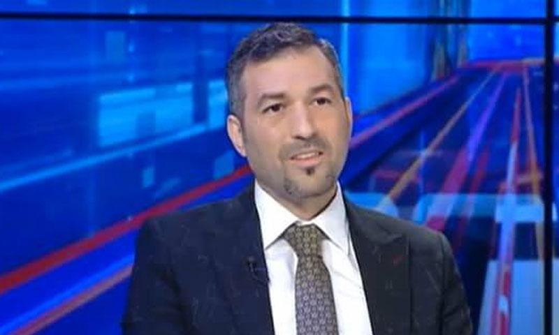 علي باكير في أحد اللقاءات التلفزيونية (يوتيوب)