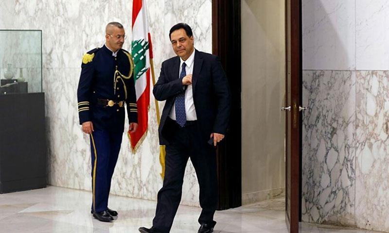 رئيس الوزراء اللبناني حسان دياب 28 من تموز 2020 (قناة الجديد اللبنانية)