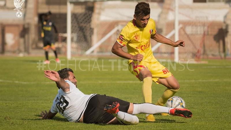 من مباراة فريقي تشرين والجيش في دور الـ16 من كأس الجمهورية (صفحة نادي تشرين- فيس بوك)