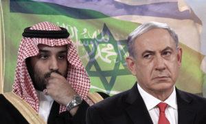 رئيس الوزراء الإسرائيلي بنيامين نتنياهو وولي عهد السعودية محمد بن سلمان (تعديل عنب بلدي)