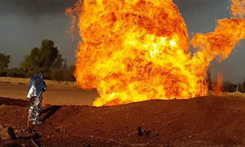 انفجار خط الغاز العربي- 24 من آب 2020 (سانا)