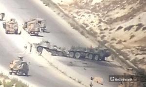 استهداف الدورية الروسية على الطريق الدولي حلب- اللاذقية- 25 آب (تنسيقيات محلية)