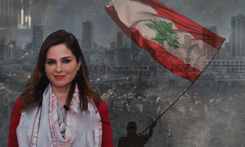 منال عبد الصمد وزيرة الإعلام اللبنانية (تعديل عنب بلدي)