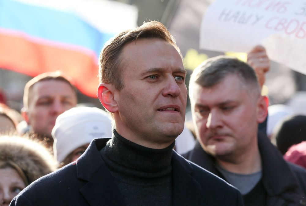 المعارض الروسي أليكسي نافالني - شباط 2020 (أندري روداكوف/بلومبرج)