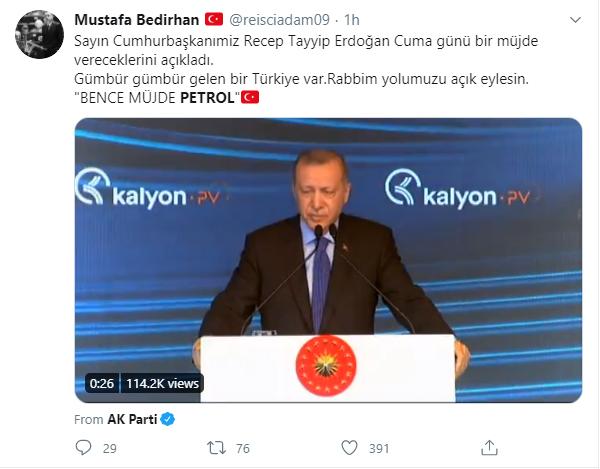 مواطن تركي يشارك في وسم بترول الأكثر تداولًا في تركيا (تويتر)