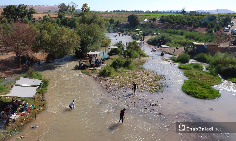 نهر حنة في عفرين - 7 آب 2020 (عنب بلدي/عاصم الملحم)