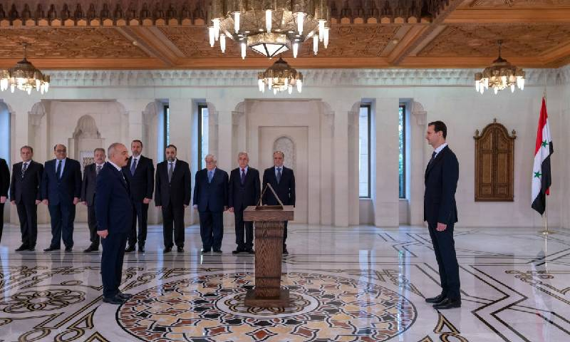 حكومة النظام السوري تؤدي اليمين الدستورية أمام بشار الأسد - 29 من تشرين الثاني 2018 (رئاسة الجمهورية)