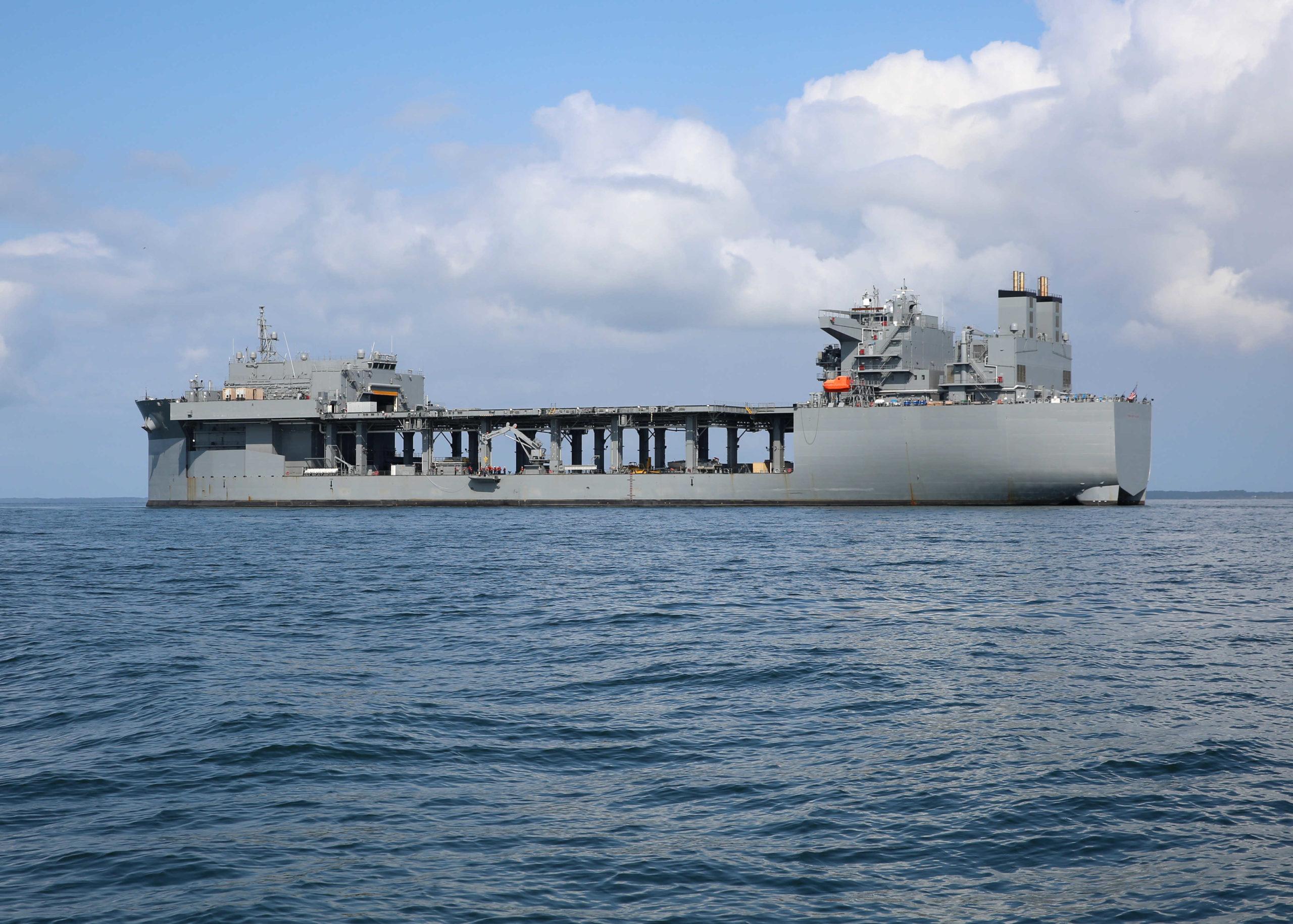 السفينة الحربية الأمريكية ويليامز هيرشيل وودي (موقع الحرة)