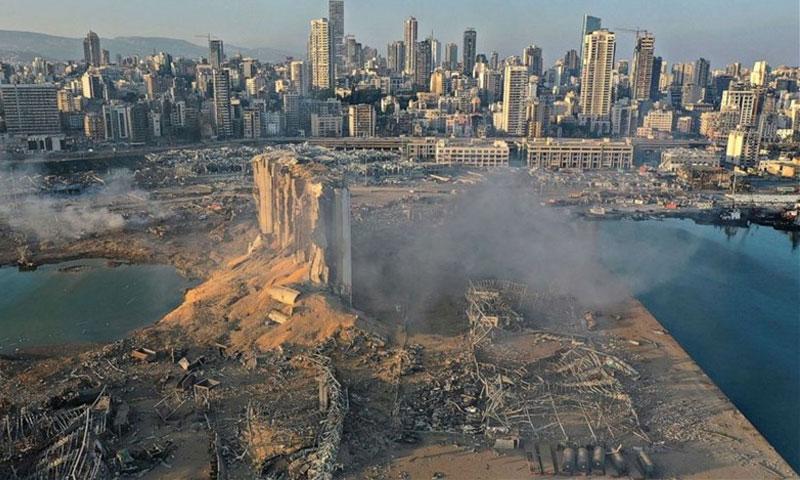 صورة توضح حجم الدمار في بيروت بعد الانفجار (LBC)