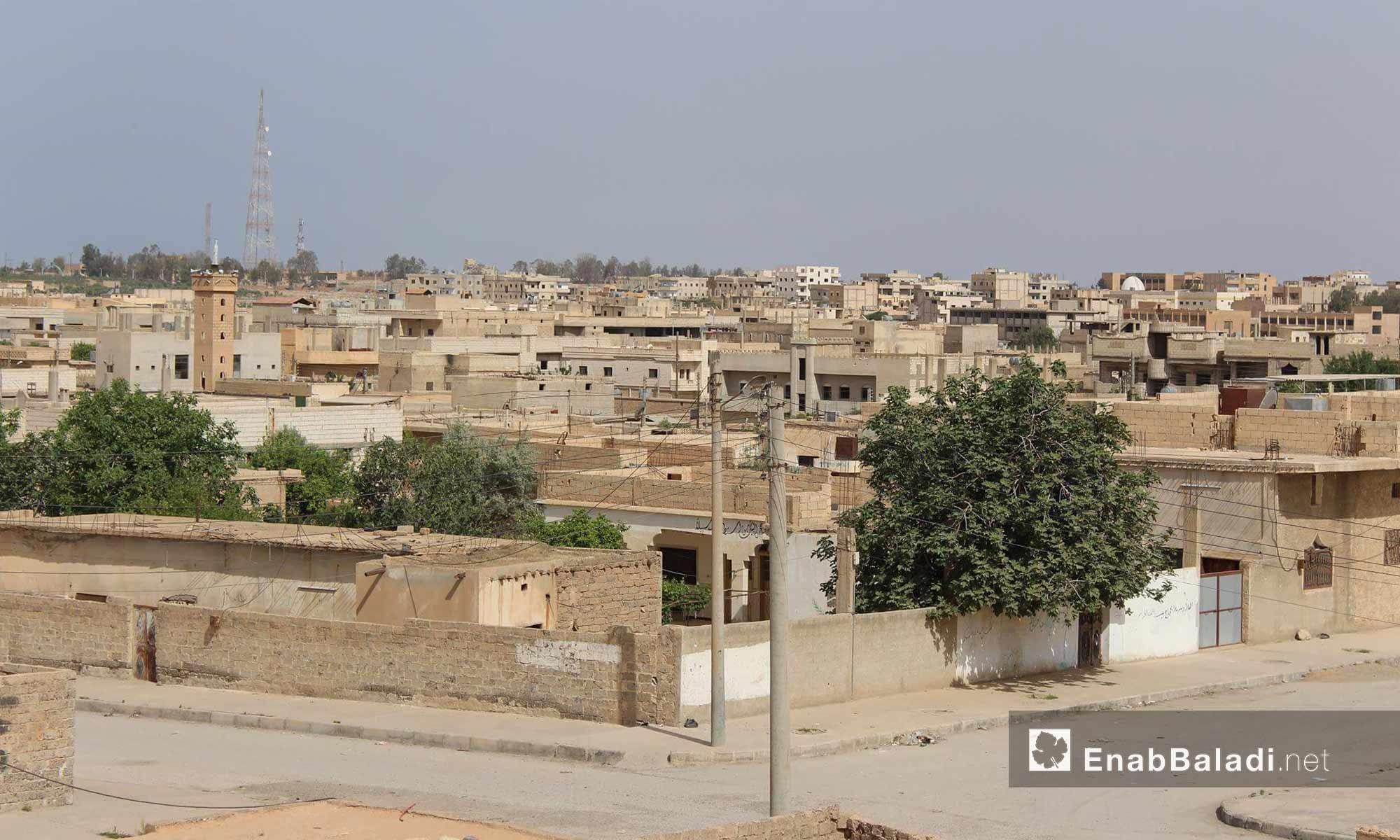 مدينة الطبقة في ريف الرقة الغربي- 23 أيار 2017 (عنب بلدي)