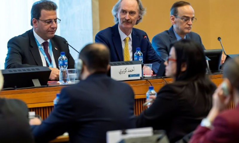 من اجتماعات اللجنة الدستورية الخاصة بسوريا (الوطن)