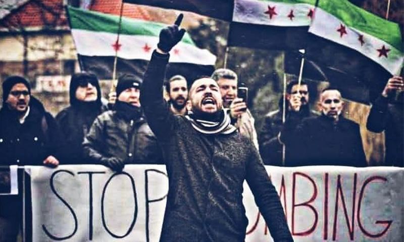 الناشط السوري محمود بكار (وائل الخالدي/ فيس بوك)