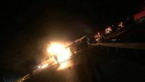 انفجار صهريج نفط في محطة وقود في الرميلان ريف الحسكة- 16 من أيلول 2020 (عين على الحسكة)
