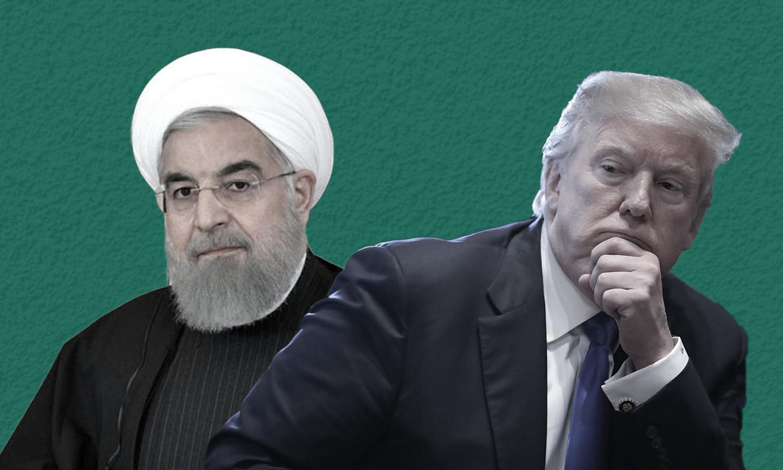الرئيسان الأمريكي دونالد ترامب والإيراني حسن روحاني (تعديل عنب بلدي)