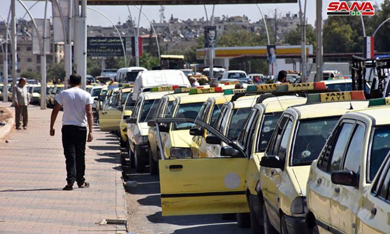 ازدحام أمام محطات الوقود 11 من أيلول 2020 (سانا)