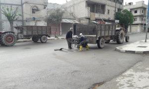 أحد طرقات مدينة جرابلس (المجلس المحلي لمدينة جرابلس)