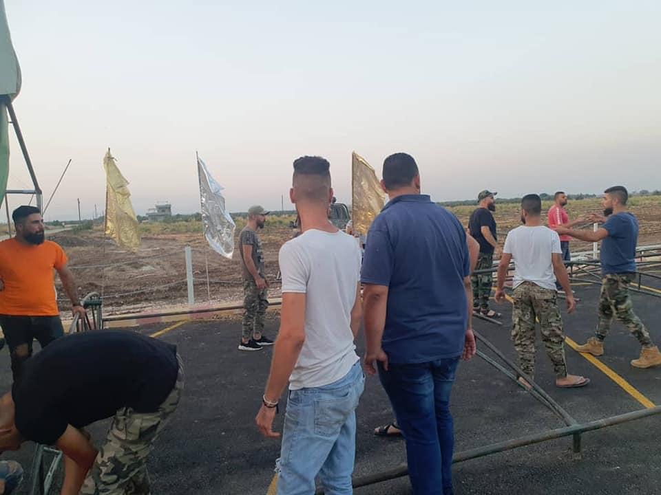 """وضع حجر الأساس لكنيسة """"آية صوفيا"""" في مدينة السقيلبية بحماة 5 من أيلول 2020 (الدفاع الوطني في السقيلبية)"""