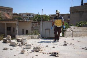 مشاهد من قصف النظام وروسيا على مناطق متفرقة في إدلب - 9 أيلول 2020 (الدفاع المدني)