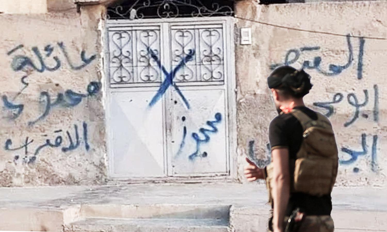 """استيلاء فصائل """"الجيش الوطني"""" على ممتلكات المدنيين في رأس العين، تعديل عنب بلدي، 2020."""