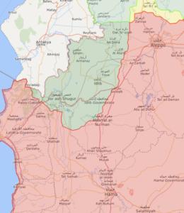 خريطة تظهر توزع السيطرة في الشمال السوري - 16 أيلول 2020 (Livemap)