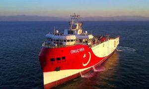 سفينة التنقيب التركية أوروتش رئيس (halk tv)