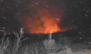 من حريق جبال عين الكروم 31 من آب 2020 (الوطن)