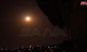 صور نشرتها سانا للقصف الإسرائيلي 31 من آب 2020 (سانا)